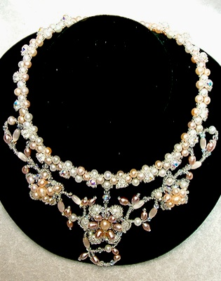 Cockscomb - Bridal Jewelry Pearl Necklace