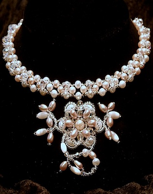 Dahlia - Bridal Jewelry Pearl Necklace