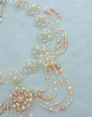 Feverfew - Bridal Jewelry Pearl Necklace